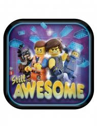 8 Små firkantede paptallerkner The Lego Movie 2™ 18 x 18 cm
