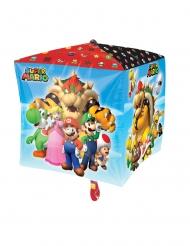 Ballon i aluminium kube Super Mario™ 38 x 38 cm
