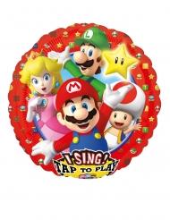 Aluminium Ballon musik Super Mario Bros™ 71 x 71 cm