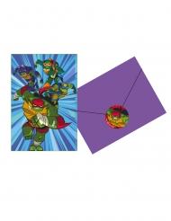 8 Invitationskort med kuverter Rise of Teenage Mutant Ninja Turtles™