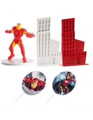 Sæt med kagedekoration Iron Man™ 8 cm