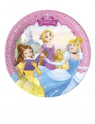 8 Små paptallerkner Disney™ prinsesse hjerteformet 20 cm