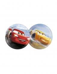 8 Små paptallerkner McQueen & Ramirez Cars 3™ 20 cm