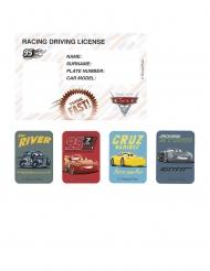 4 Invitationskort og klistermærker Cars 3™