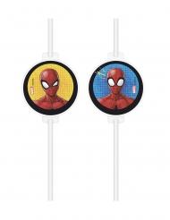 Sugerør med vignette Spiderman™