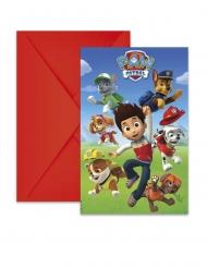 6 Invitationskort med kuvert Paw Patrol Ready for Action™