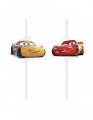 4 Sugerør med motiv Cars 3™