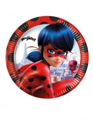 8 stk Ladybug™ paptallerkener 20cm