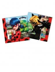 20 Servietter Miraculous Ladybug™ 33 x 33 cm