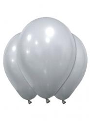 12 balloner latex sølv 28 cm