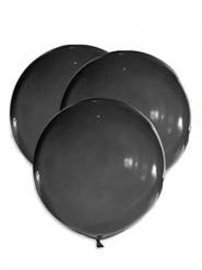 5 gigantiske latexballoner sort 47 cm