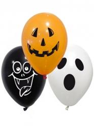 Spooky Halloween Latex Balloner 10 stk