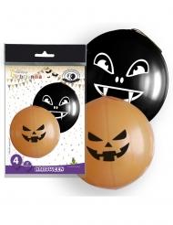 Latex Ballon Gigant Halloween 4 stk 47 cm