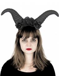 Djævelsk Horn på Hårbøjle sort til voksne