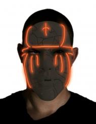 LED Maske sort til voksne