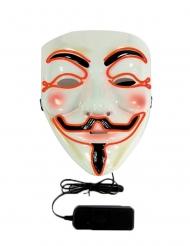LED maske anonymous til voksne