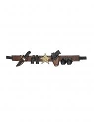 Våben bælte sherif 90 cm