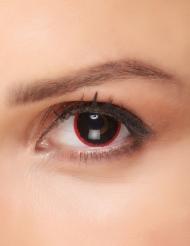 Linser sort med rød kant til voksne