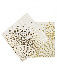 16 Luksus guldservietter 33 x 33 cm