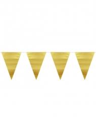 Guirlande med guldfarvede vimpler