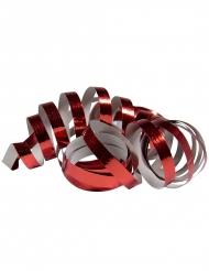 2 Serpentinruller metallisk rød 4 m
