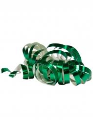 2 Serpentinruller metallisk grøn 4 m
