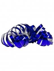 2 Serpentinruller metallisk blå 4 m