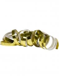 2 Serpentinruller metallisk guld 4 m
