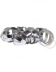 2 Stk serpentinruller i metallisk sølv 4 m