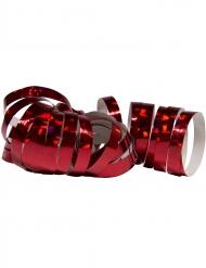 2 Stk serpentinruller metallisk rød 4 m