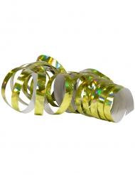 2 Stk serpentinruller metallisk guld 4 m