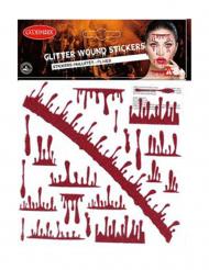 Glimmer klistermærker falsk blod