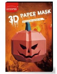 3D Papirmaske græskar - voksen
