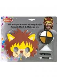 Løve maske og sminke barn