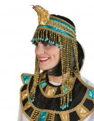 Ægytisk Hovedbeklædning Blå Guld til voksne