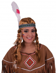 Indianer paryk og pandebånd voksen