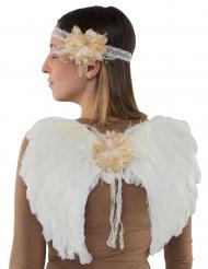 Engle vinger og pandebånd - voksen