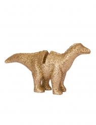 4 Kortholdere Dinosaur i resin guld 9,5 x 5 cm