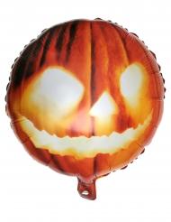 Aluminium Ballon Græskar Orange 35 x 18 cm