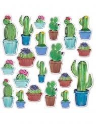 20 Kaktus cutouts i karton