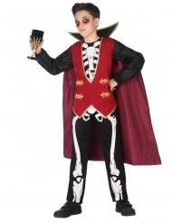 Vampyr Kostume Skelet til drenge