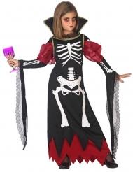 Vampyr Kostume Skelet til piger