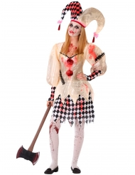 Harlekin Kostume Blodig til teenager