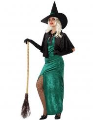 Hekse Kostume Vesten grøn til kvinder