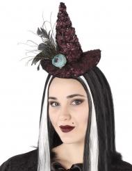 Hekse Hat på Hårbøjle blå rose til voksne