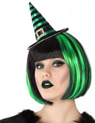 Hekse Hat på Hårbøjle sort grøn til voksne