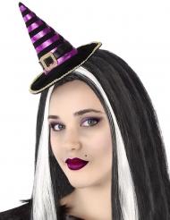 Hekse Hat på Hårbøjle lilla sort til voksne