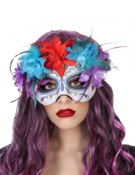 Maske Dia de los Muertos Farver til voksne