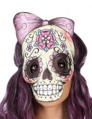 Dia de los Muertos skelet maske til voksne