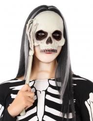 Skelet Maske på pind til voksne